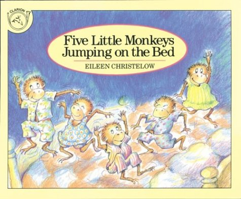 Book review five little monkeys jumping on the bed for Five little monkeys jumping on the bed coloring pages