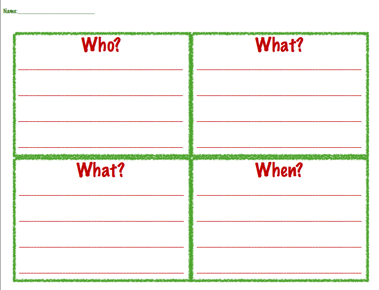 All Worksheets story setting worksheets : Bear Stays Up for Christmas!