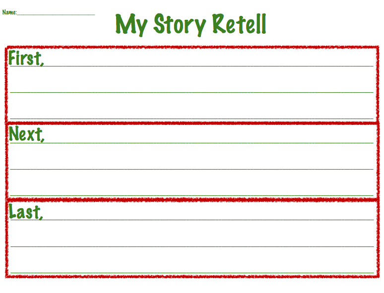 The story retell organizer is for students working on retell using ...