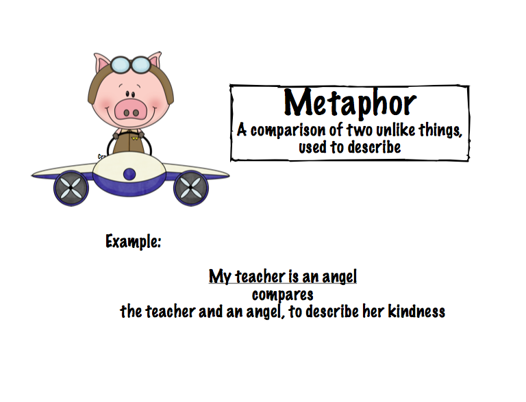Write a sentence for metaphor