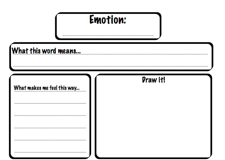 Working On Emotions on Perspective Worksheets For Elementary
