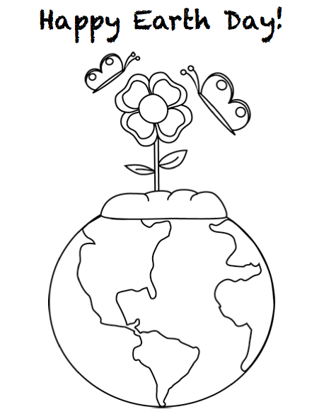 Printable Earth Day Coloring Pages for Kids | Earth day coloring ... | 585x458