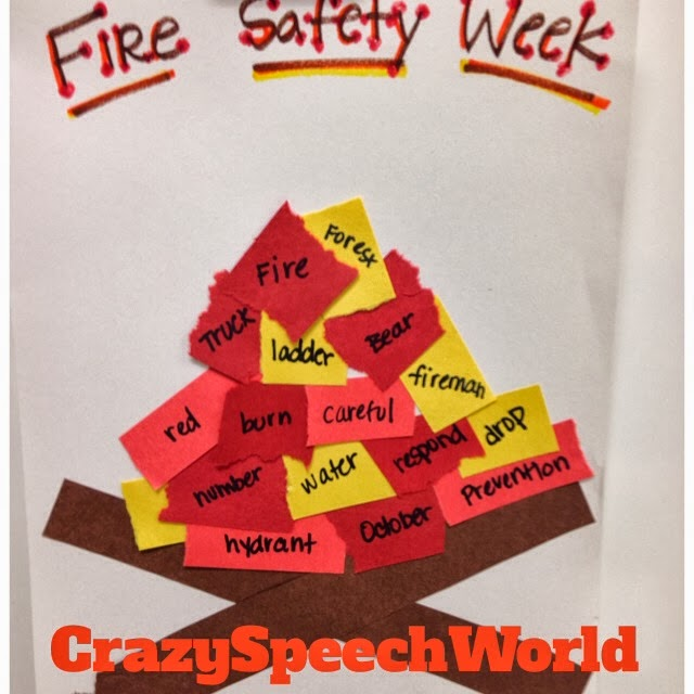 Fire Safety Speech Activities – Kindergarten Fire Safety Worksheets