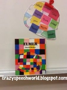 My week in speech…carnival games & Elmer!