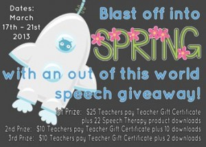 Blast Off with a Speechie Giveaway!