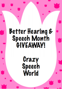 Better Hearing & Speech Month plus Giveaway!