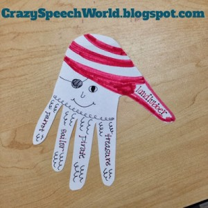 Pirate Handprint Craft-ivity