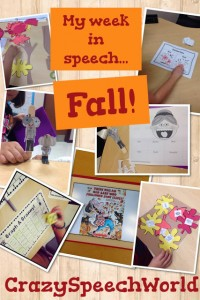 Fall Speech Activities!