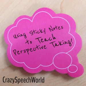 Perspective Taking with Sticky Notes!