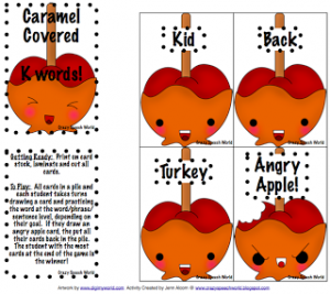 Special Request: Caramel Covered K & G Cards