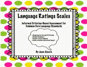 Common Core Language Rating Scales