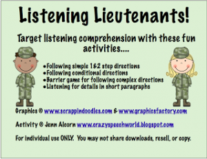 Listening Lieutenants!