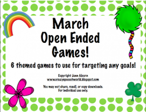 March Open-Ended Games!
