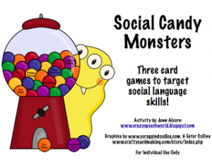 Social Candy Monsters: A Social Language Skills Pack