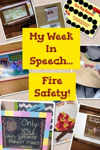 Fire Safety Speech Activities!