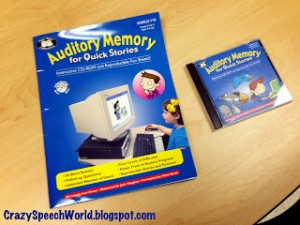 Things I Love: Auditory Memory for Quick Stories