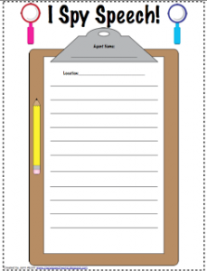I Spy Speech {Freebie!}