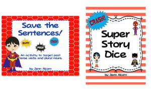 Superhero Grammar AND Storytelling! {Plus Giveaway!}