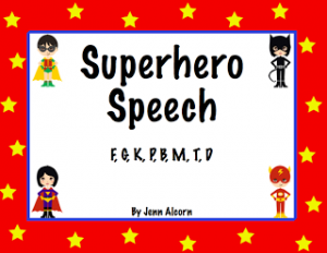 Super Hero Speech…More Sounds!