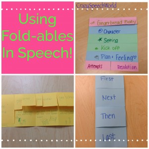 Using Fold-ables in Speech Therapy!