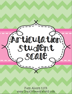 Articulation Student Scale {Freebie}