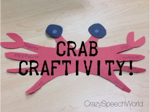 Crab Craftivity