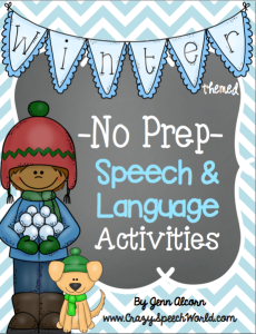 Winter No Prep Speech & Language