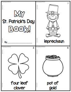 St. Patrick's Day Vocabulary Book Freebie!