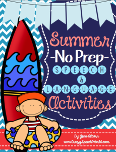 Summer No Prep Speech therapy