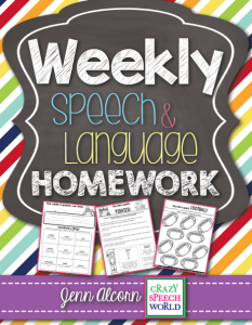 Weekly Speech & Language Homework!