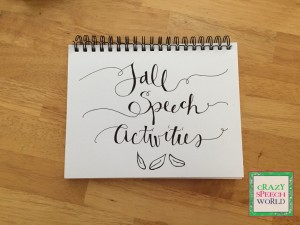 {New} Fall Speech Activities + Giveaway
