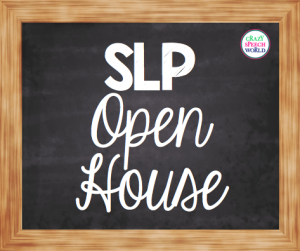 SLP Open House! (Freebie)