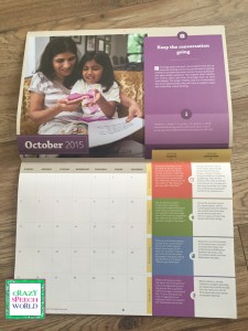 Crazy Speech World:  Hanen Preschool Calendar