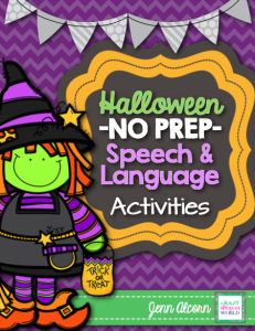 Crazy Speech World:  No Prep Halloween Activities for Speech Therapy