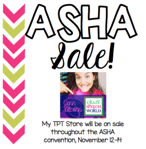 Crazy Speech World:  ASHA Sale!