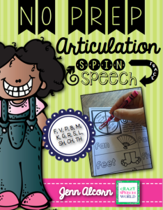 Crazy Speech World: No Prep Articulation