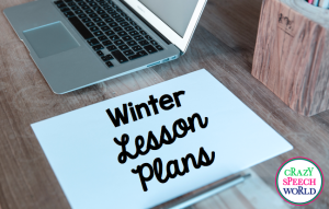 Winter Themed Therapy Plans!