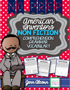 Nonfiction Text:  American Inventors
