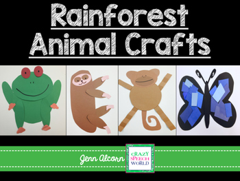 Crazy Speech World: Rainforest Animals