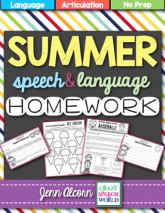 Summer Speech Homework
