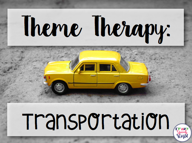 Crazy Speech World: Transportation themed activities for speech therapy