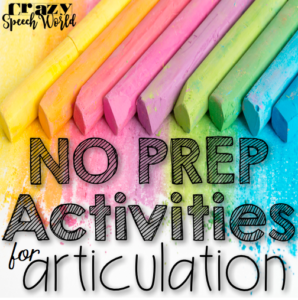 No Prep Articulation Activities