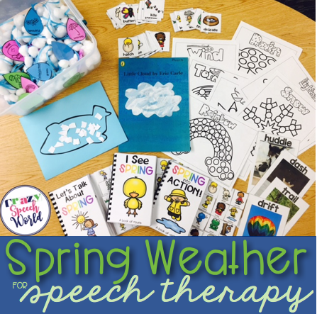 Spring Weather Activities for Speech Therapy
