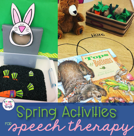 Spring activities for speech therapy
