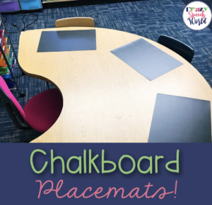 Speech Therapy Materials:  Chalkboard Placemats