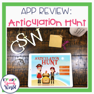 Apps for Articulation Therapy:  Articulation Hunt