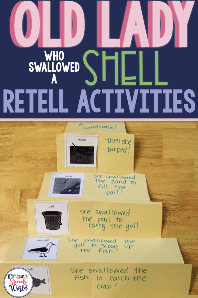 """Activities for """"There Was an Old Lady Who Swallowed a Shell"""""""