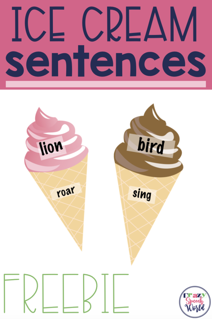 Ice Cream Sentences Freebie