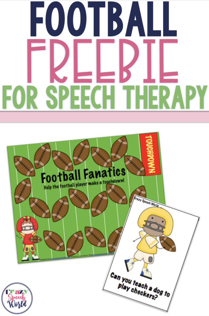 Football freebie for speech therapy
