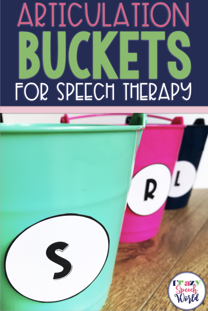 articulation buckets for speech therapy